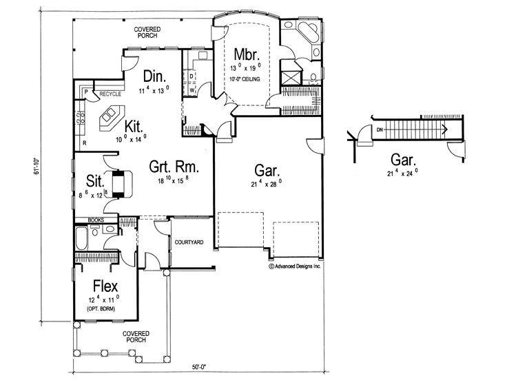 69 best empty nest house plans images on pinterest nests for Empty nesters house plans