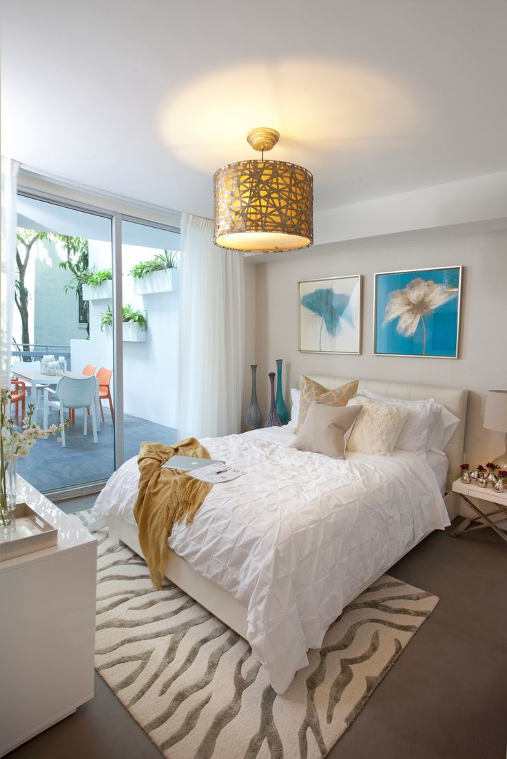 DKOR Interiors - Guest bedroom in modern, residential interior design  project in South Beach,