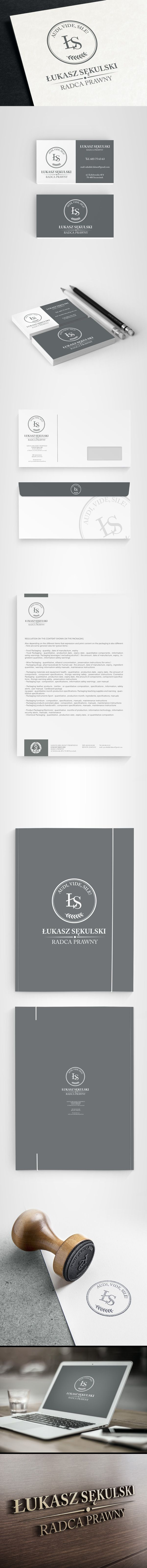 Completed brand identity for a law firm for legal advisors.                                                                                                                                                      More