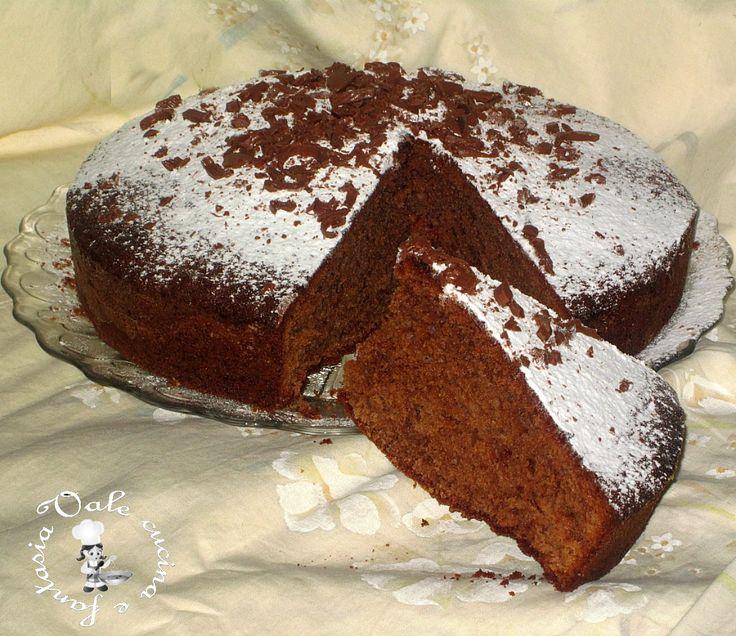 Torta con cioccolato al latte Vale cucina e fantasia