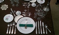 FORMAL PLACESETTING FOR EIGHT [8] COURSE DINNER
