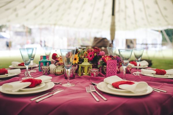Bohemian Inspired Photo Shoot within one of our tents.  Stunning.