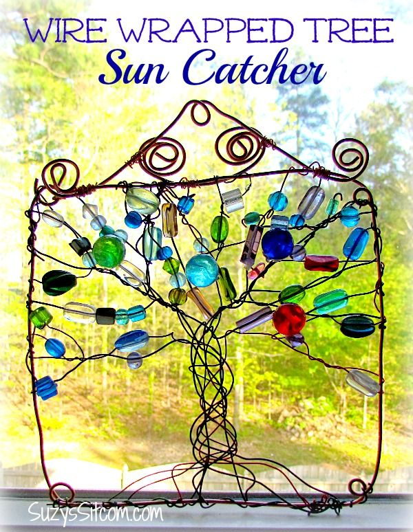 wire wrapped tree sun catcher...free tutorial!