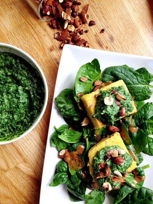 Polenta & crémeux de fanes de navets | Green Cuisine