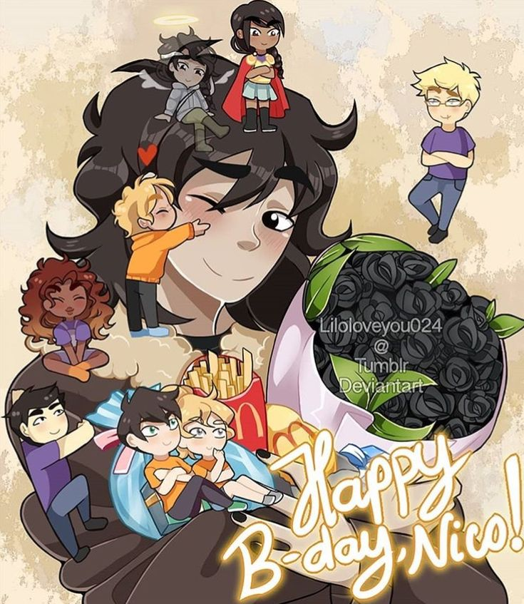 Happy b-day Nico Nico and the seven plus Reyna and Bianca but tiny and climbing all over him