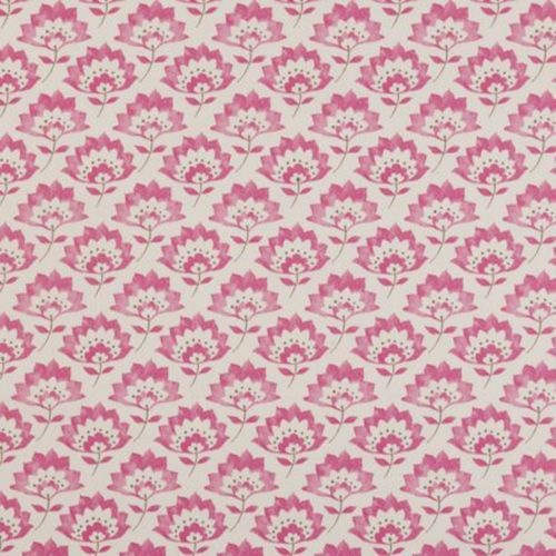 Clarke and Clarke Gracie Raspberry Fabric by the Metre.