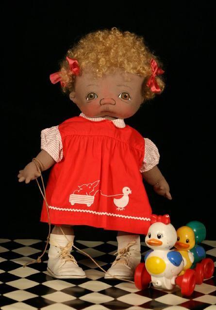 Jan Shackelford Dolls one of a kind cloth doll artist