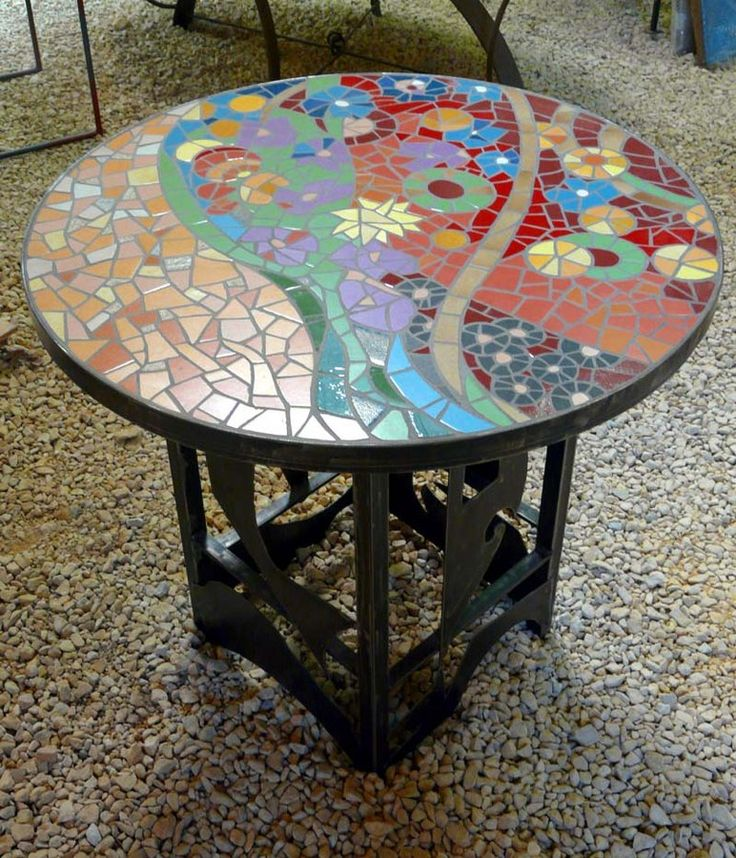 Les 25 meilleures id es de la cat gorie table ronde jardin sur pinterest table de jardin ronde - Table jardin mosaique ronde versailles ...