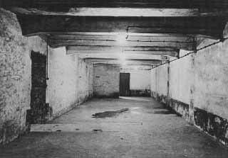 This a gas chamber used during the holocaust the kill large groups of jewish people.
