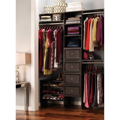 ClosetMaid SuiteSymphony 16 in. Starter Kit - Wood Closet Organizers at Hayneedle