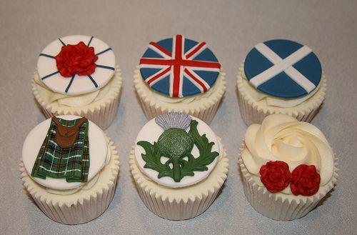 Scottish English Wedding Cupcakes