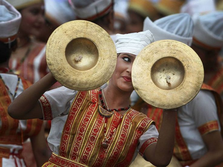 15 August 2014- A dancer performs during Independence Day celebrations in Gauhati, India