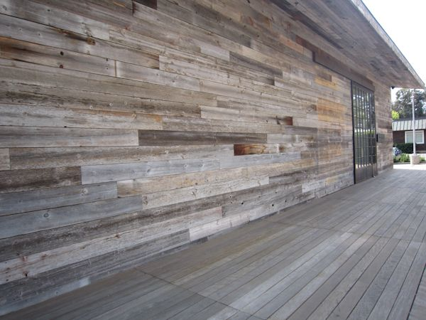 Reclaimed weathered wood siding materials and finishes for Reclaimed wood decking