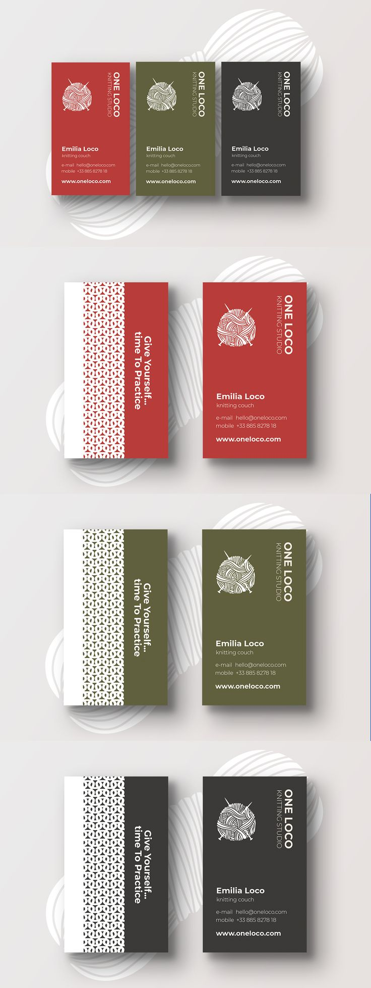 Hey guys... have a look at my latest work: it's a cool minimalistic business card for a Knitting Studio so this might be just the thing you're looking for your clients.Enjoy and Happy New Year!