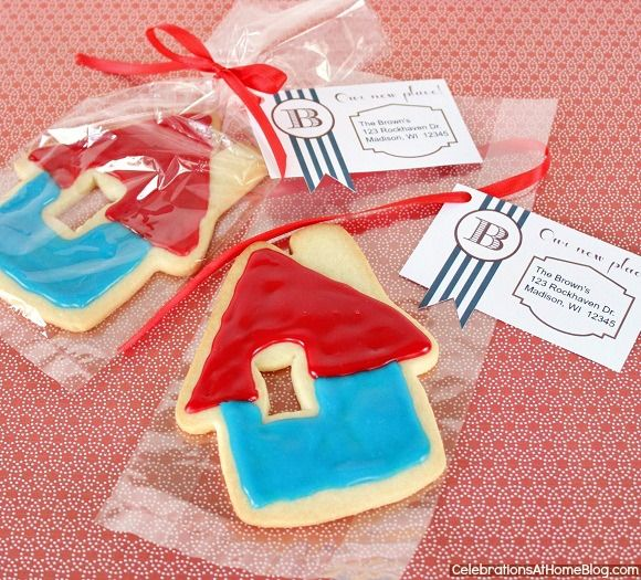 Housewarming Party Favor Idea. Even comes with the template and can be customized to your address and name!