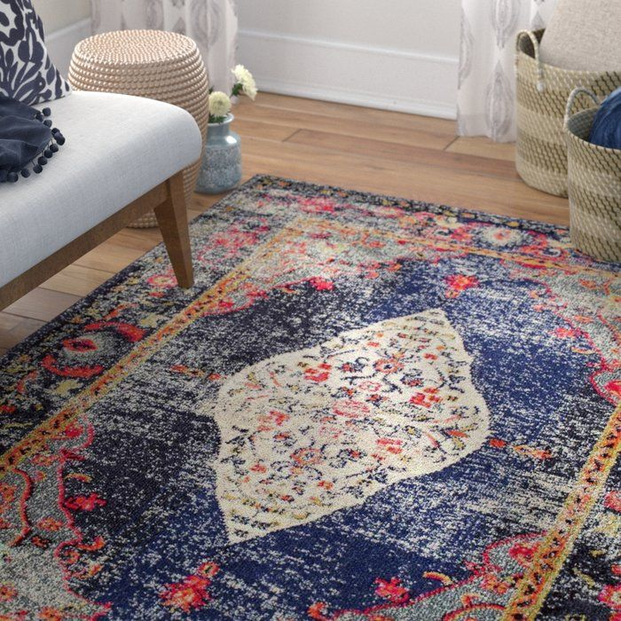 Alessandra Navy Area Rug With Images Rugs In Living Room Area