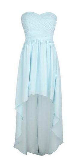 I dislike mullet dresses, but love that Carolina blue