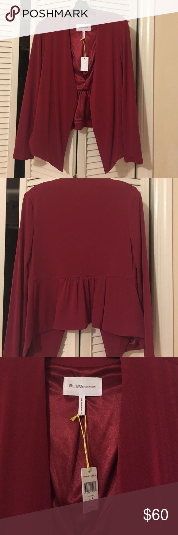 BCBGENERATION BLAZER!!! NWT maroon blazer! Super cute on. BCBGeneration Jackets & Coats Blazers