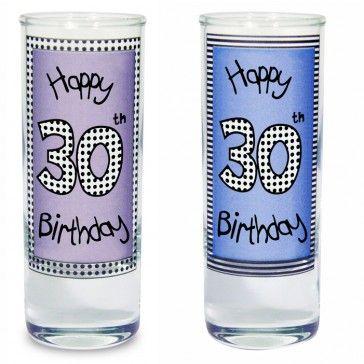 30th shot glass