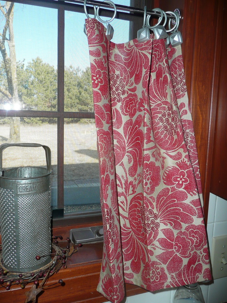Kitchen Curtains Made From Napkins From Target Over The