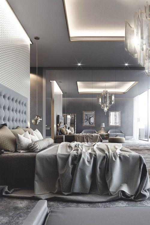 Interior Design Firm On Bedroom Designs: Grey Bedrooms. Luxury Elegant Interiors. Linen Bedding