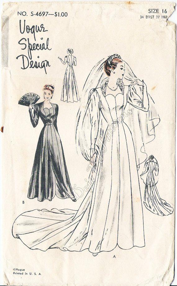 Fantastic Vogue Vintage Wedding Dress Patterns Crest - Wedding Dress ...