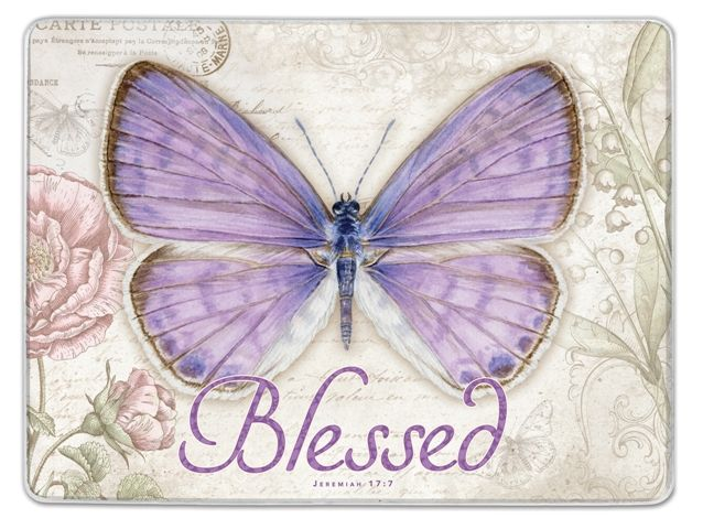 Glass Cutting Board Blessed (Large)