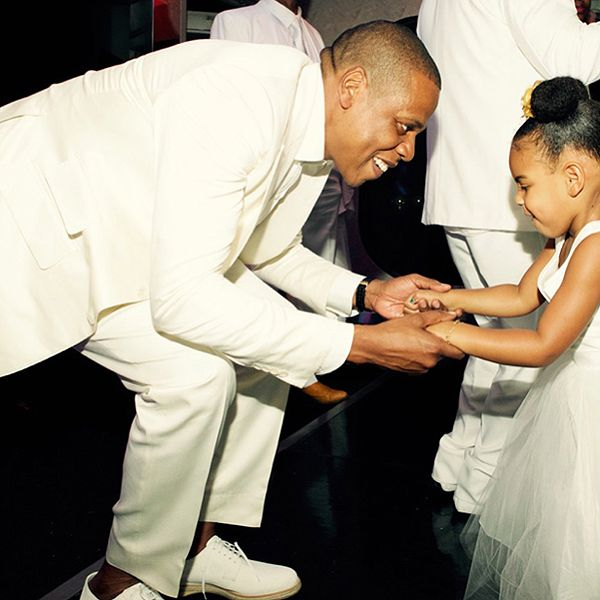 See Jay Z and Blue Ivy Dance at Tina Knowles Lawson's Wedding http://www.people.com/article/jay-z-blue-ivy-dance-tina-knowles-wedding