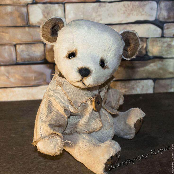 "Teddy bear Potap made of velboa. Мишка тедди Потап сшит из вельбоа. #teddy #teddy_bear #bear #gift_shop_handmade #toys_bear #toys_plush #toys_handmade #MEDWEDKO   Купить Мишка тедди ""Потап"" - мишка тедди, мишка ручной работы, мишка тедди в подарок"