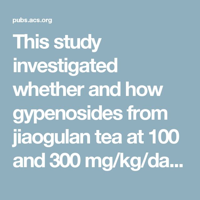 This study investigated whether and how gypenosides from jiaogulan tea at 100 and 300 mg/kg/day levels could reduce the development of overweight and insulin resistance in C57 BL/6J mice fed a high-fat diet in 12 weeks. The 300 mg/kg/day gypenosides supplement significantly reduced final body weight, plasma total cholesterol, and homeostasis model assessment-estimated insulin resistance (HOMA-IR) index by 19.9%, 40%, and 36%, respectively, compared with the high-fat diet control group…