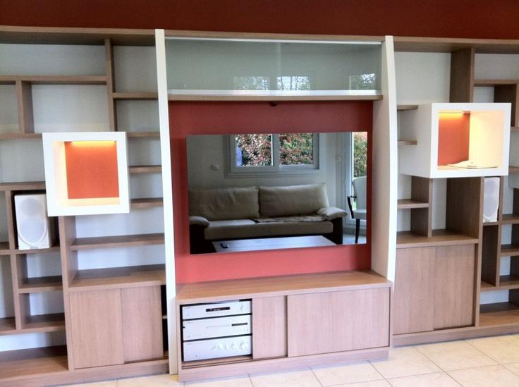 installation int gr e avec miroir tv audio and video systems design. Black Bedroom Furniture Sets. Home Design Ideas