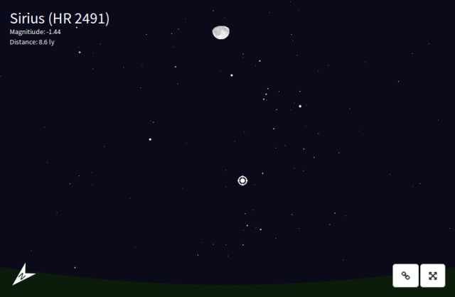 an HTML5 night sky viewer - written in a weekend with D3.js and SunCalc; the 750 brightest stars are rendered using SVG and Javascript. One's location vi (a) the HTML5 Geolocation API or (b) entered manually. The keyboard to navigate, and mousing over a star will display some information about it. http://www.mpetroff.net/files/nightsky/