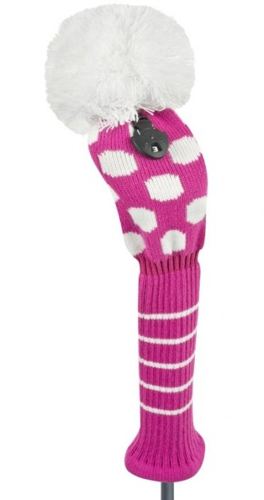 Check out what #lorisgolfshopp  has for your days on the golf course: Just4Golf Medium Dot Fairway Golf Headcover - Pink and White