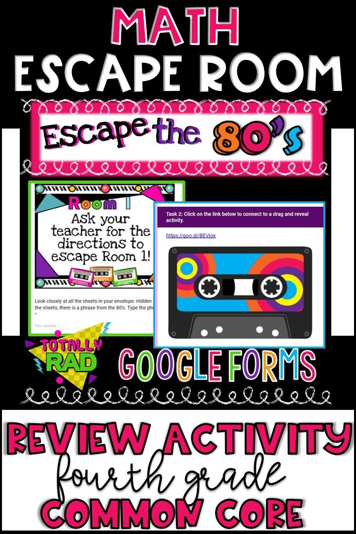 Math Escape Room Review Activity in 2020 (With images ...