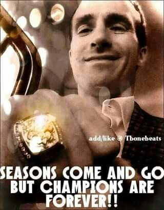 Seasons come and go. But champions are forever. Geaux Saints New Orleans Saints Drew Brees