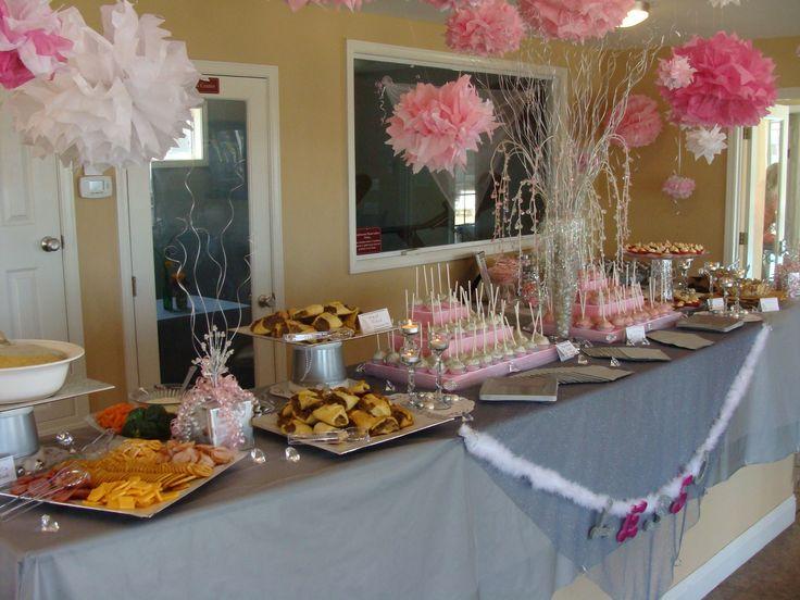 Wedding Shower Food Table Entertaining Pinterest