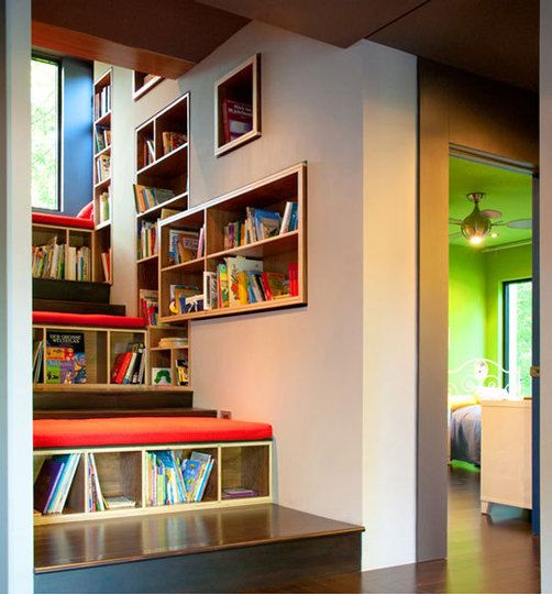 Climbing library: Bookshelves, Modern Families, Child Rooms, Book Nooks, Book Storage, Reading Nooks, Book Shelves, Kids Rooms, Kids Reading