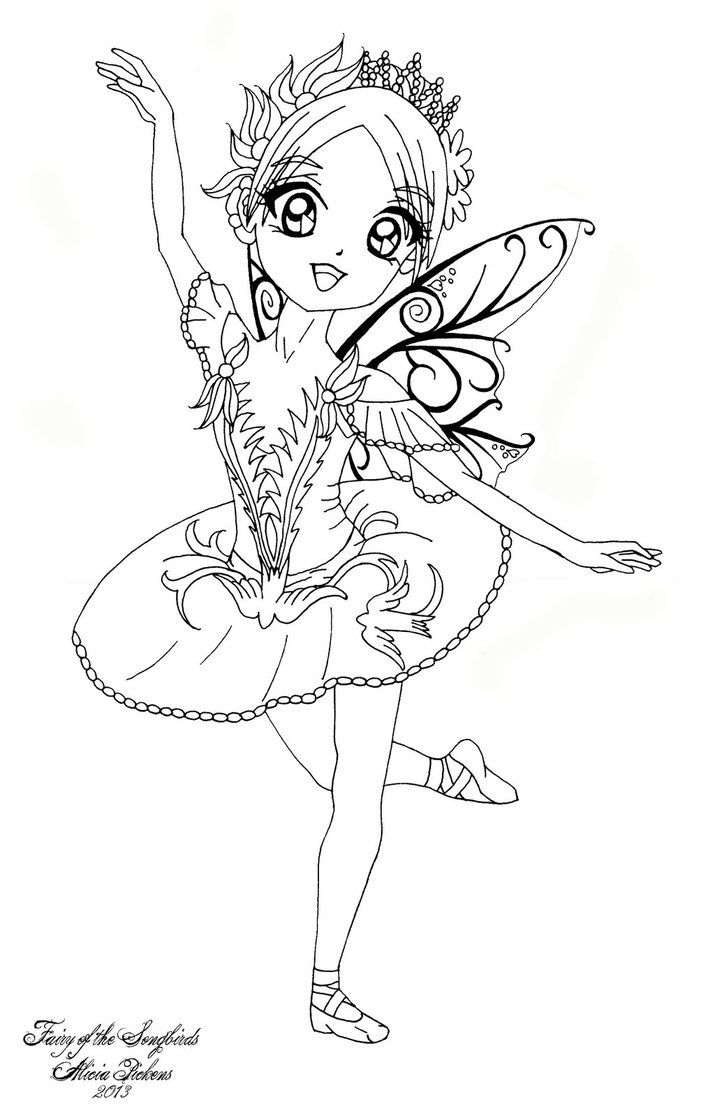 cute fairies coloring pages - photo#13