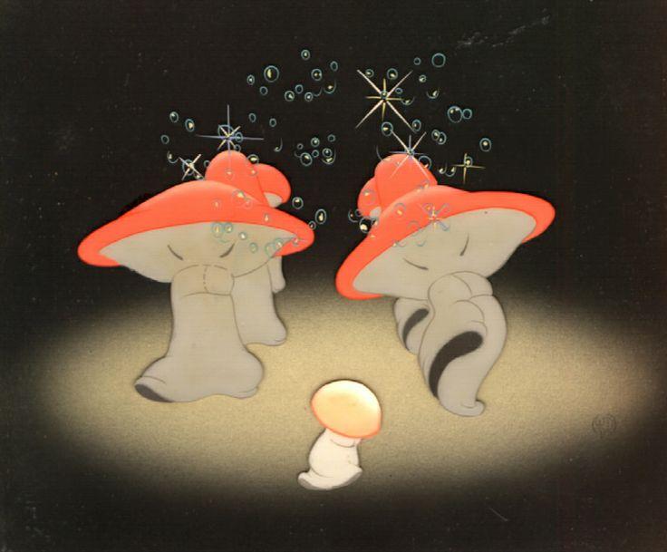 Production Cel Of The Mushrooms From Fantasia Fantasia