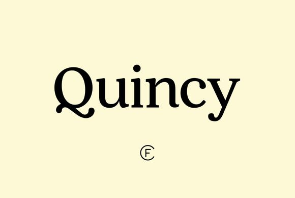 Quincy CF font family by Connary Fagen Typography on Creative Market