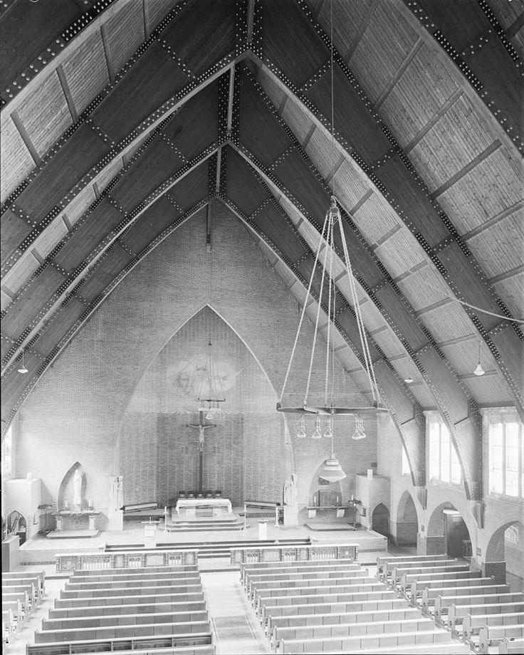 1925: r.k. Kerk Onze Lieve Vrouwe van Lourdes - Church of Our Lady of Lourdes (r.c.) I architect C.M. v. Moorsel