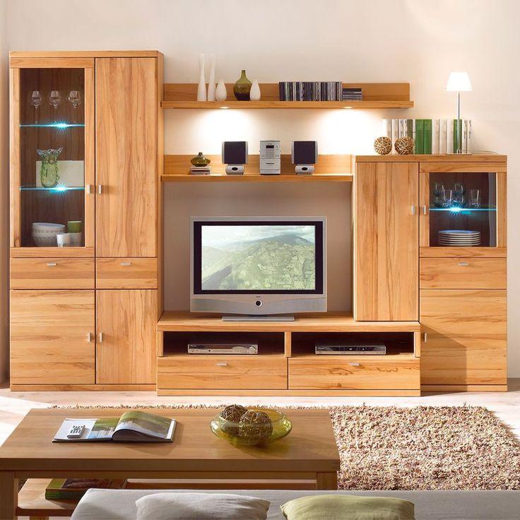 Ideal Die teilige Wohnwand aus Kernbuche ist einer der Wohnw nde im klassichen Design die