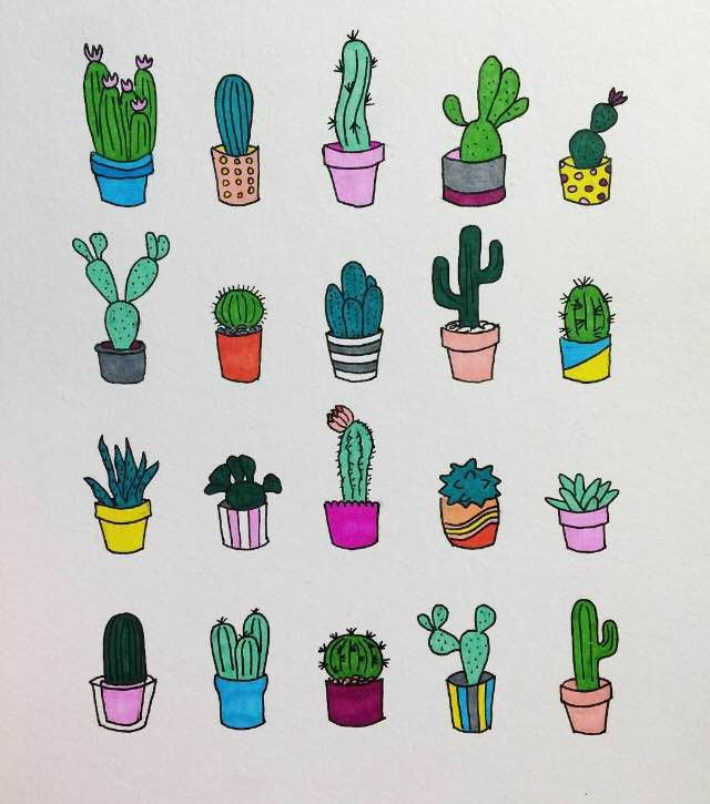 Drawing some cacti!