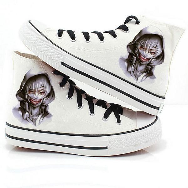 64127eb35532e Tokyo Ghoul Kaneki Canvas Shoes | Tokyo Ghoul Merchandise | Tokyo ...
