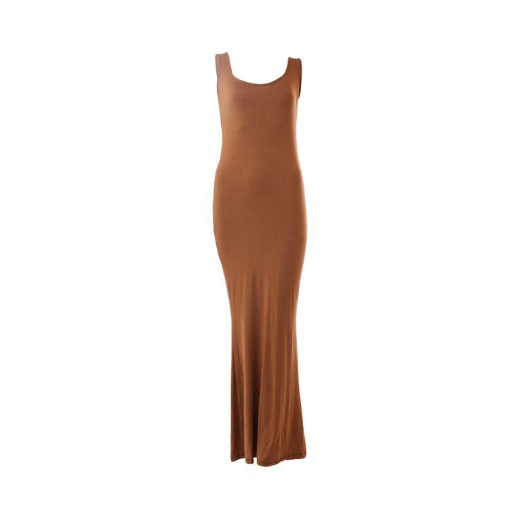 Vestido Largo Sirena Tostado Viscosa, Desbats, $28.000. Vestido de algodón café, te recomiendo usarlo con accesorios llamativos y para la tarde puedes complementarlo con una blusa de jeans.