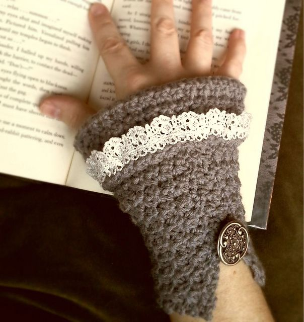Beautifully stunning Mara Wrist Cuff~ #crochet pattern by Kaleidoscope Art&Gifts. #handmade