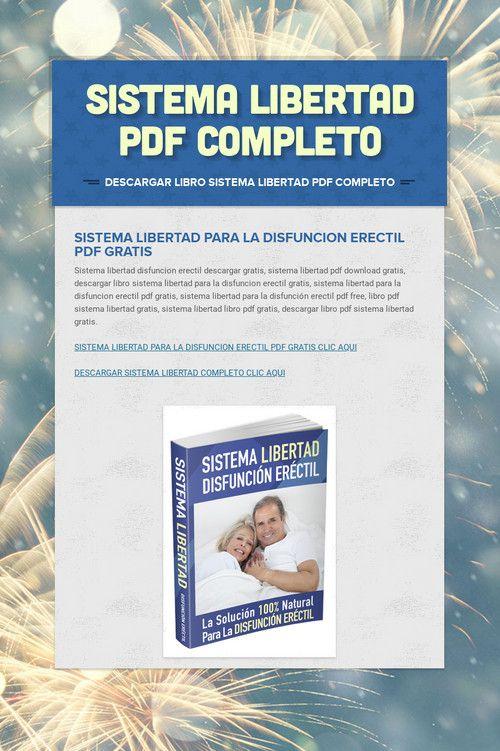 libros gratis sobre disfunción eréctil