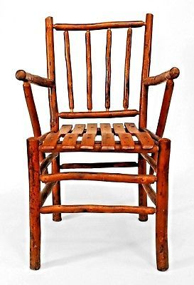 Hickory Chairs For Sale Low Back Parsons Dining Chair Set Of 12 American Rustic Old Antique Visit To Purchase