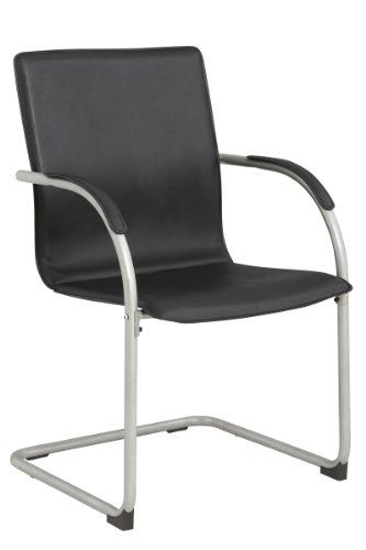 new black office desk chair side guest reception waiting room