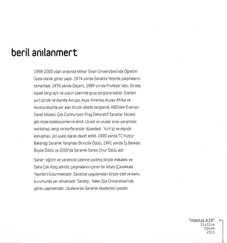 """Beril Anılanmert """"ZAMANIN İZİNDE"""" Çağdaş Seramik Sergisi, 2012 (Erdinç Bakla archive)"""